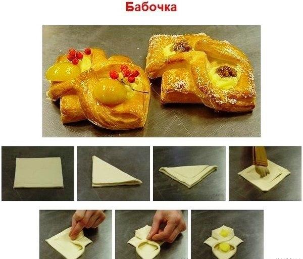 Рецепты слоек из слоеного теста с пошагово