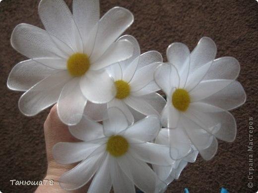 Белые цветы поделки