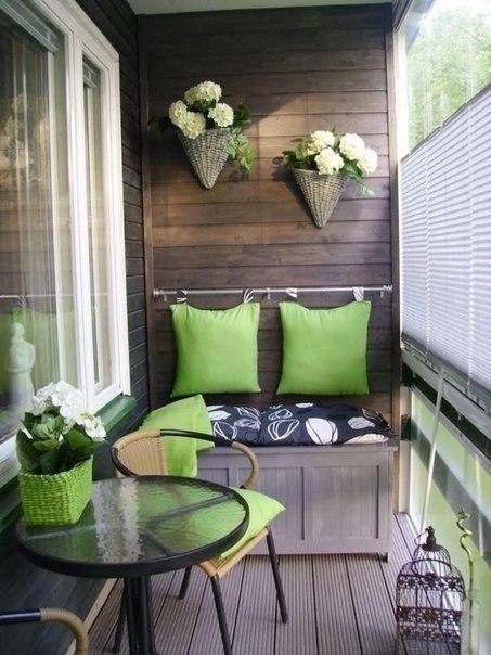 Подборка прекрасных идей для небольших балконов - 2
