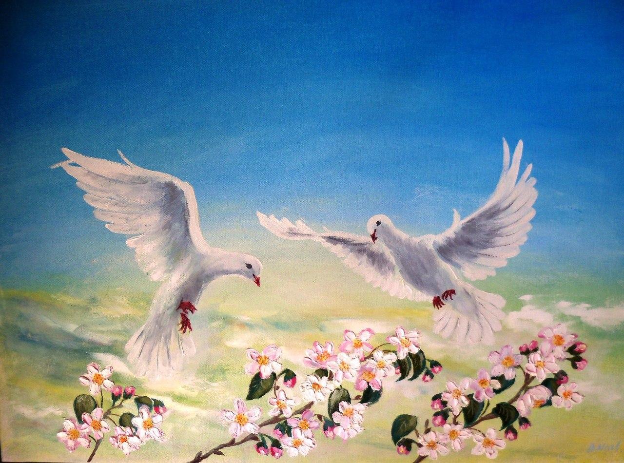 Открытка с мирным небом