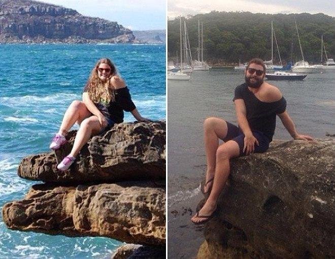 Австралиец Джаррод Аллен воссоздает фотографии девушек залитые в инстаграм. - 6