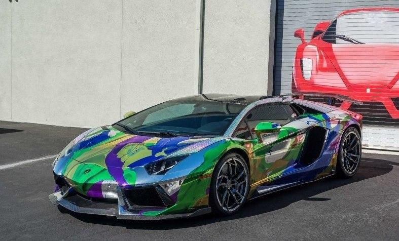ART CAR Lamborghini Aventador Roadster 2014.#авто@yakor.blog