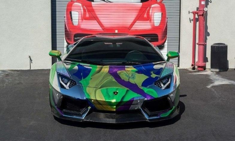 ART CAR Lamborghini Aventador Roadster 2014.#авто@yakor.blog - 2