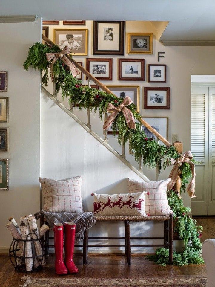 Украшаем дом еловыми веточками.#декор@ideas.life - 2