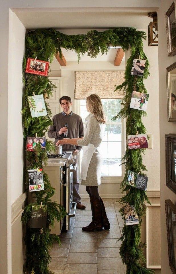 Украшаем дом еловыми веточками.#декор@ideas.life