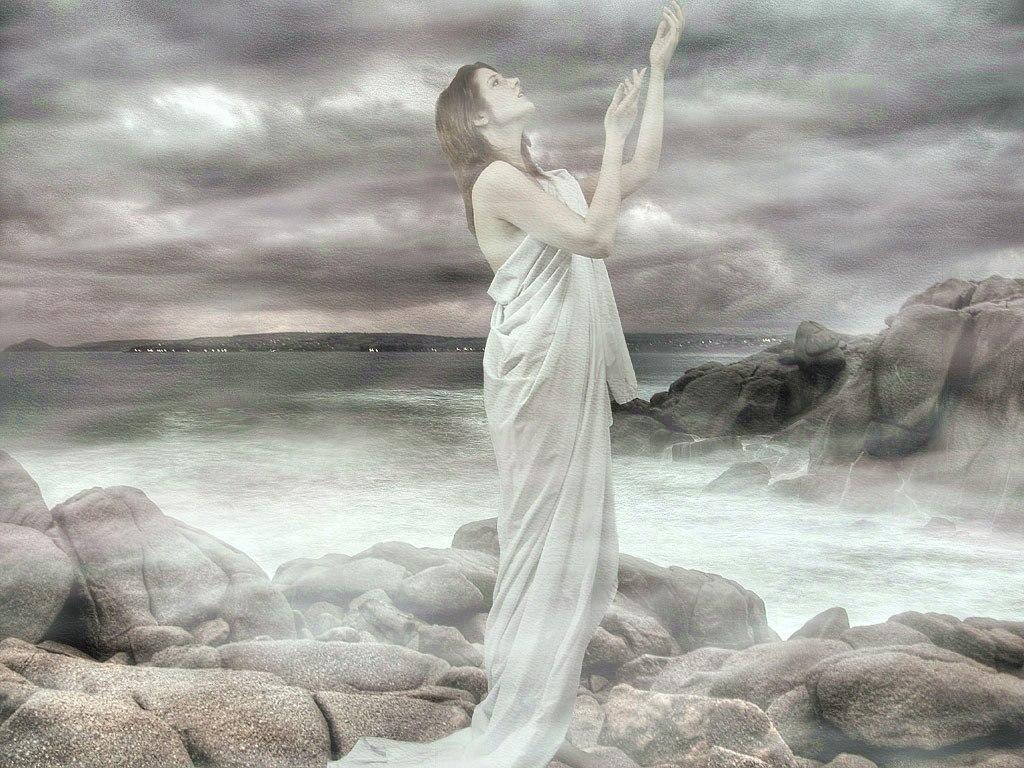 ангел на берегу картинка женщина