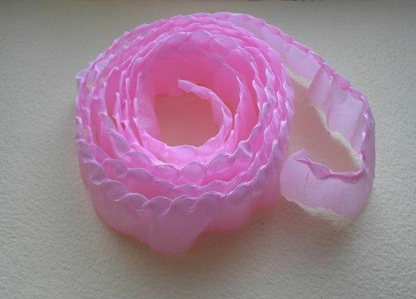 Цветы из гофрированной бумаги - 5
