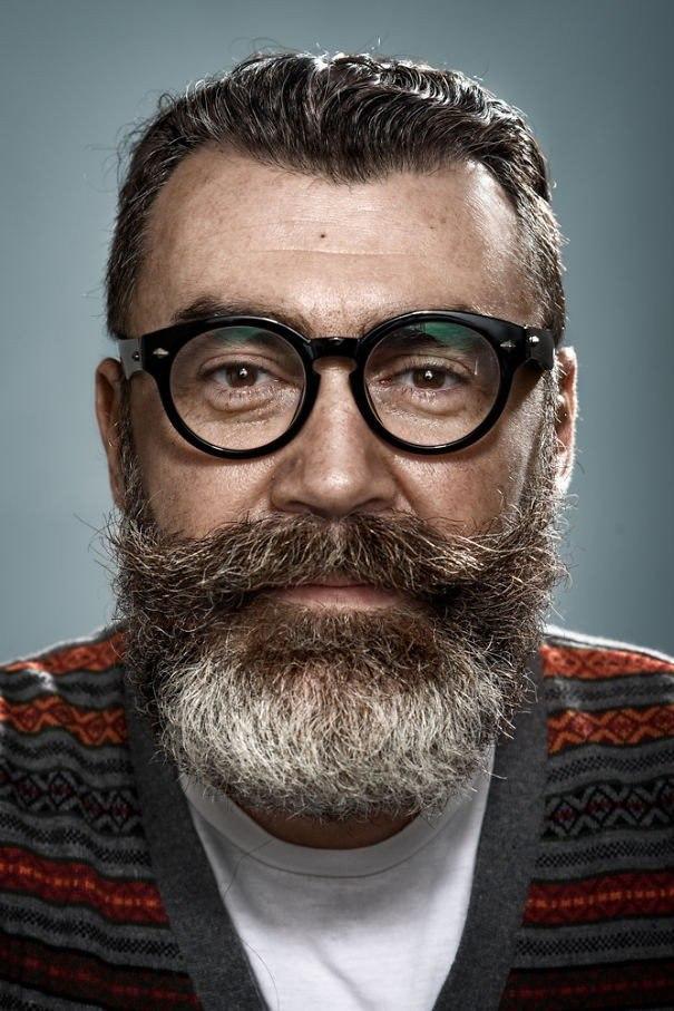 Портеры бородатых мужчин от фотографа Zia Vey
