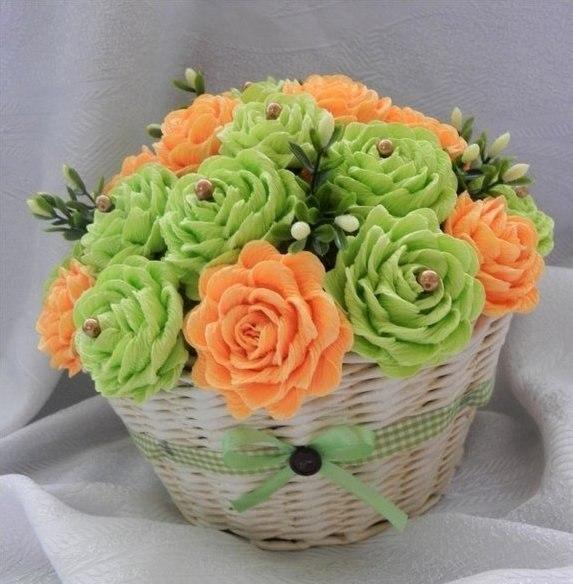 Цветы из гофрированной бумаги - 2