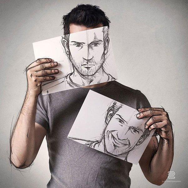 Картинки нарисованного человека который рисует