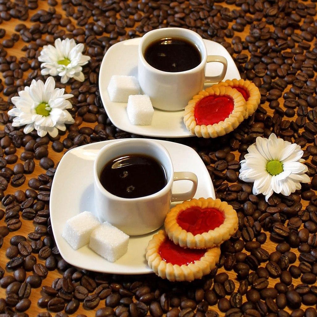 Утро кофе двое картинки