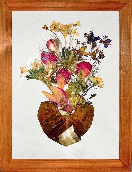 Картинки, открытки из засушенных цветов своими руками