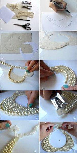 Ожерелье в виде воротничка - 4