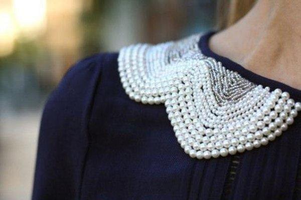 Ожерелье в виде воротничка - 7