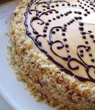 Шоколадный торт со сливочным кремом со сгущёнкой.Ингредиенты на тесто:Яйца куриные — 3 шт. Сахар ... - 2