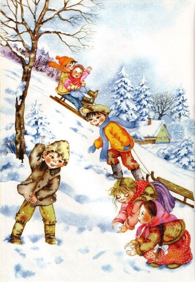 Картинки о зиме для детей 7-8 лет, картинки