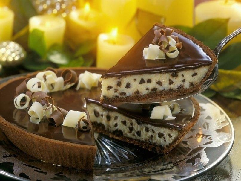 Сливочно-шоколадный торт-чизкейк.Ингредиенты:Для теста:250 г пшеничной муки1 куриное яйцо160 г ...