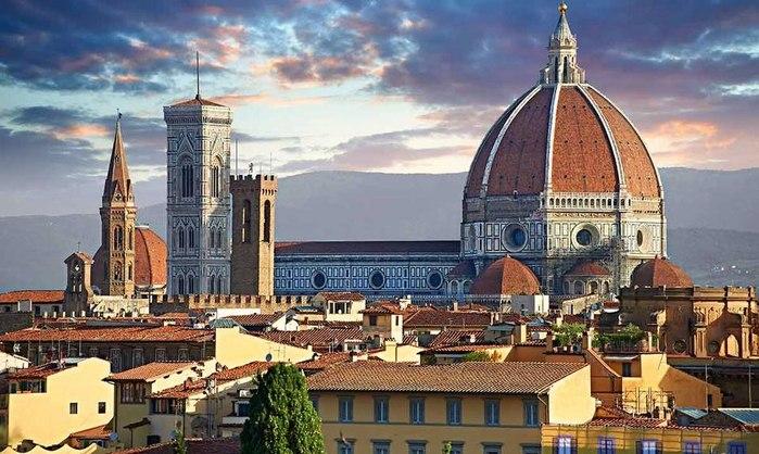 Знаете ли вы, что строя во Флоренции фантастический собор Санта-Мария-дель-Фьоре (Duomo), архитектор ...
