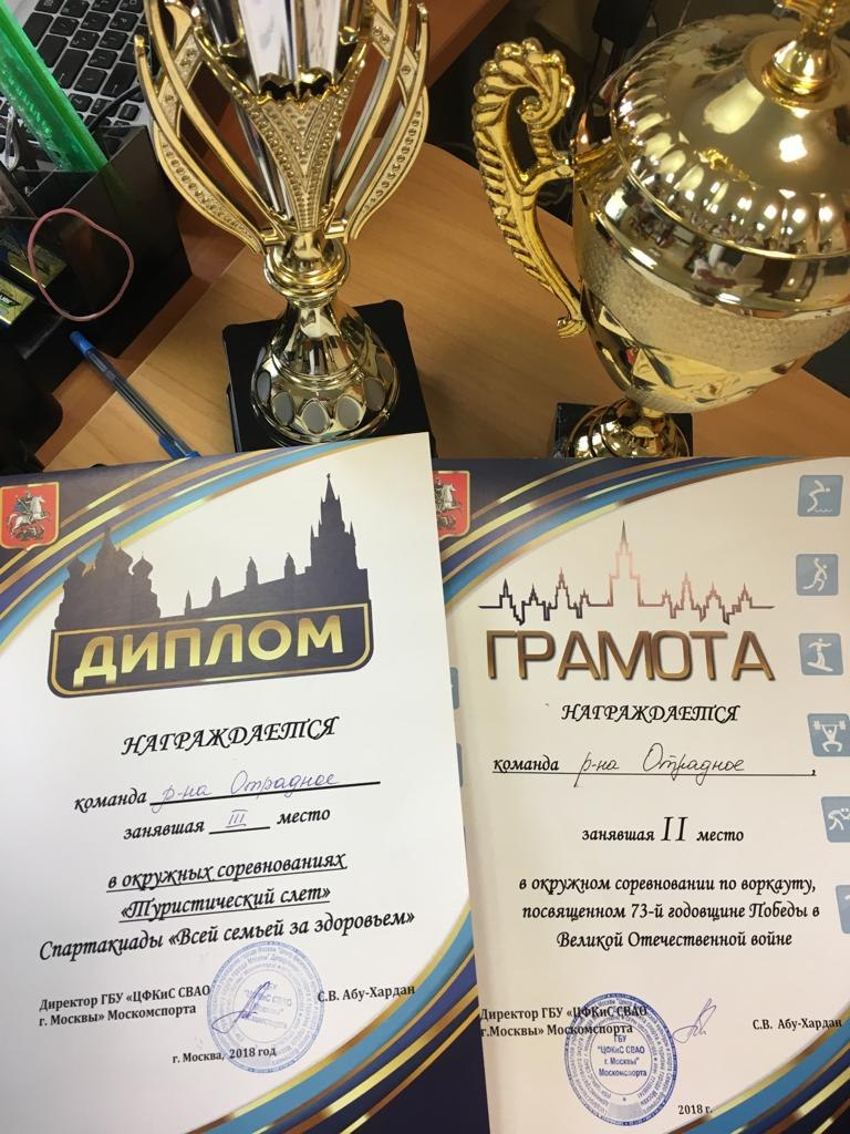 Команды района Отрадное заняли призовые места в следующих соревнованиях: 2 место – в окружных ...