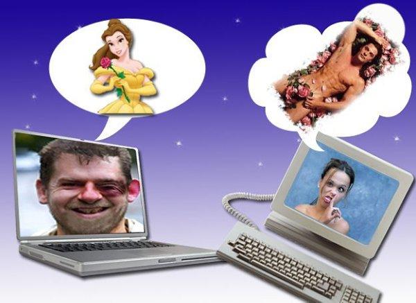 Прикольные картинки знакомства в интернете