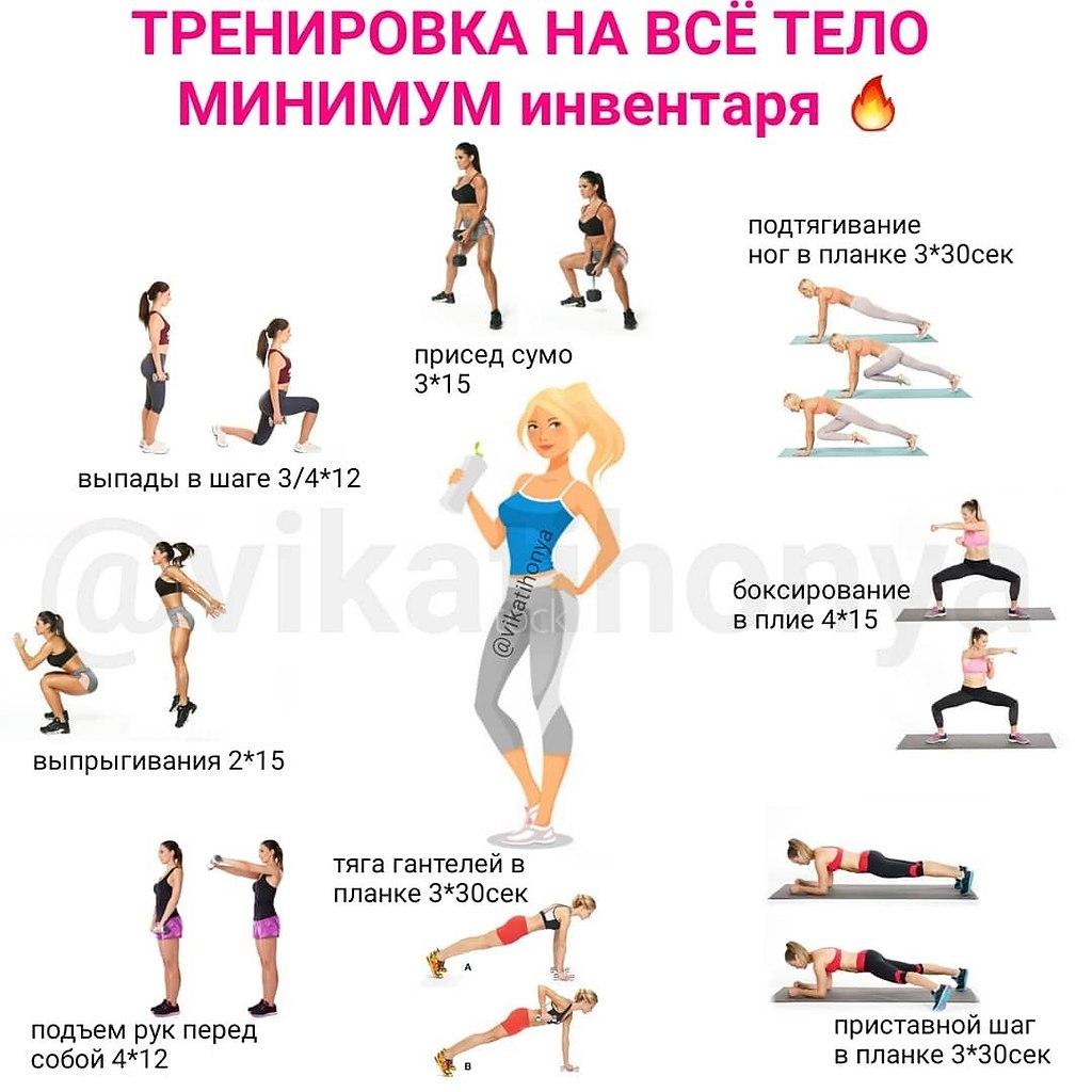 Группа упражнений для похудения