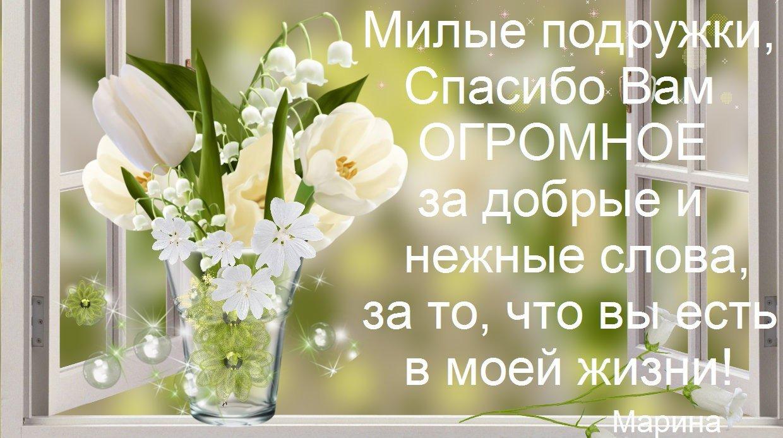 Спасибо тебе дорогая за поздравление