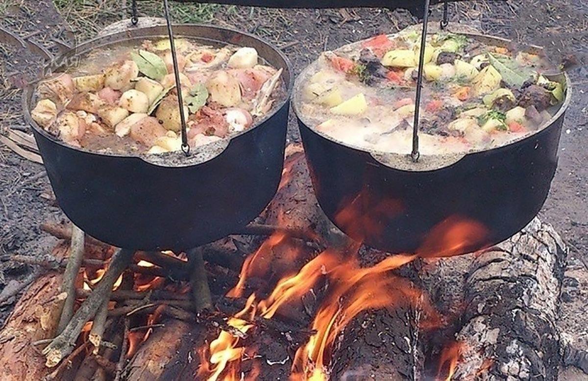 еда в походе на костре рецепты низу меню