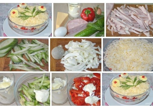 Салат из ветчины и сыра.https://vk.com/club150059236Вкусный салат из ветчины и сыра готовится за ...