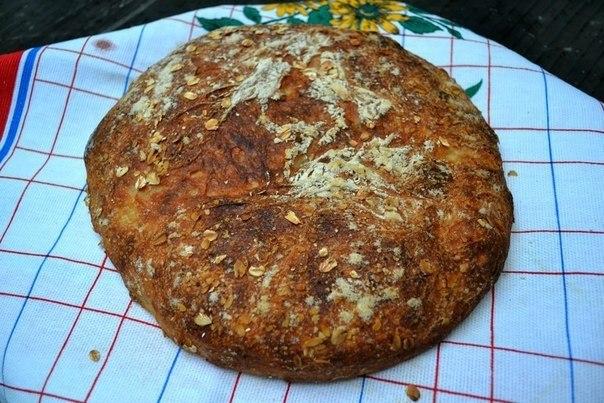 Рецепты от наших участников.Пористый мягкий хлеб, с дико хрустящей корочкой, без замеса теста.Автор: ... - 2