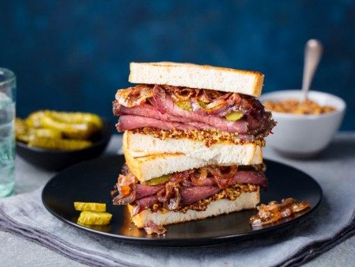 Бутерброд с жареным мясом.https://vk.com/club150059236ИнгредиентыМясо (говядина или свинина) - 500 ...
