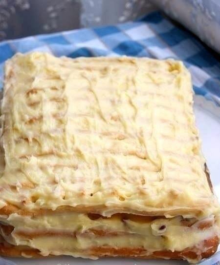 Торт тропиканкав..Это торт из коржей из заварного теста и перемазанных заварным кремом с фруктами, ... - 4