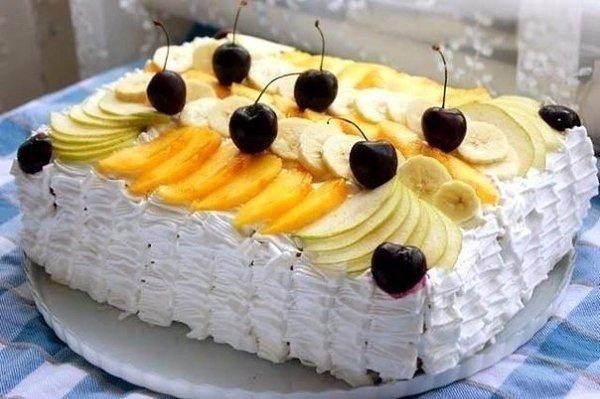 Торт тропиканкав..Это торт из коржей из заварного теста и перемазанных заварным кремом с фруктами, ... - 6