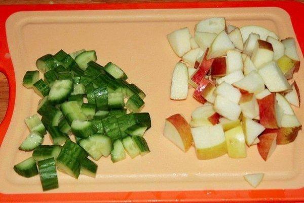 Шведский картофельный салат.Ингредиенты:Картофель — 700 гБекон — 150-200 гЛук красный — 1 шт.Огурец ... - 5