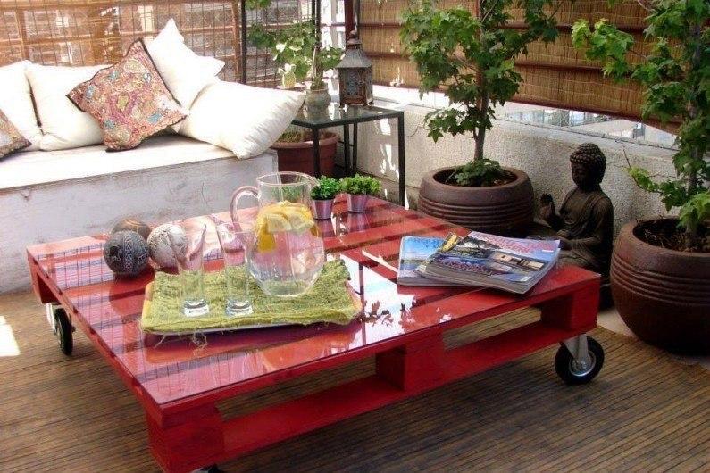 Бюджетные идеи для мебели из палет - 3