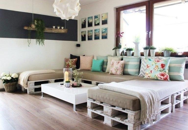 Бюджетные идеи для мебели из палет - 4