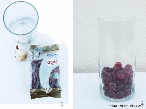 Выращивание тюльпанов в прозрачной вазе.Понадобятся низкорослые сорта. Перед тем, как высаживать ... - 3